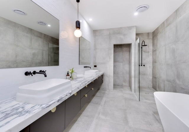 Coorparoo-Ensuite-Vanity-Stone-Bench-Tops-Imperial-Kitchens
