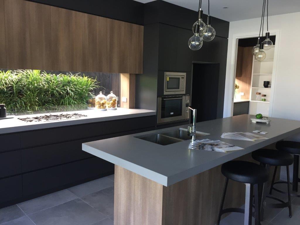 Kitchens-Renovations-Brisbane-Grey-Concrete-Texture-Bench-Top