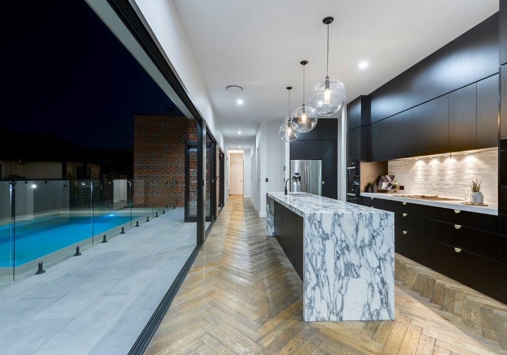 Kitchens-Renovations-Brisbane-Marble-Waterfall-edge