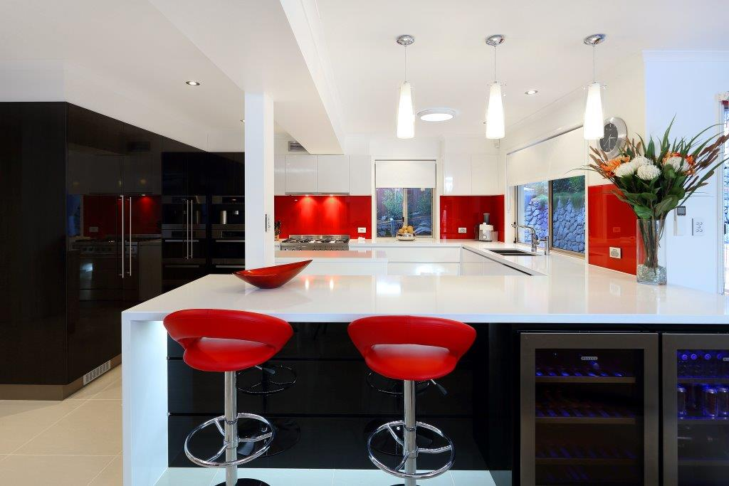 Kitchens-Renovations-Brisbane-Red-Splashback