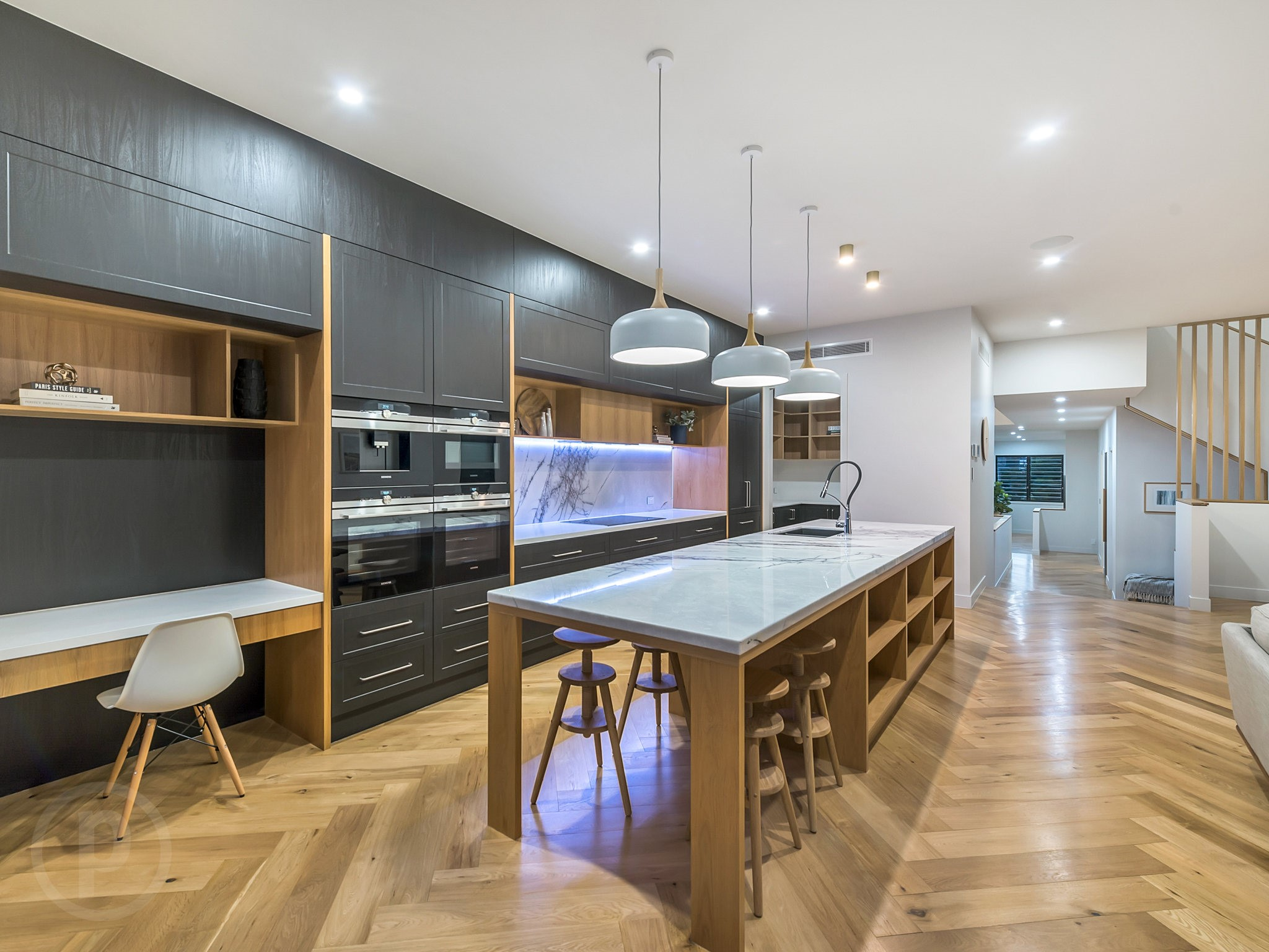 Custom-kitchen-breakfast-bar-study-nook-Brisbane-Gold-Coast