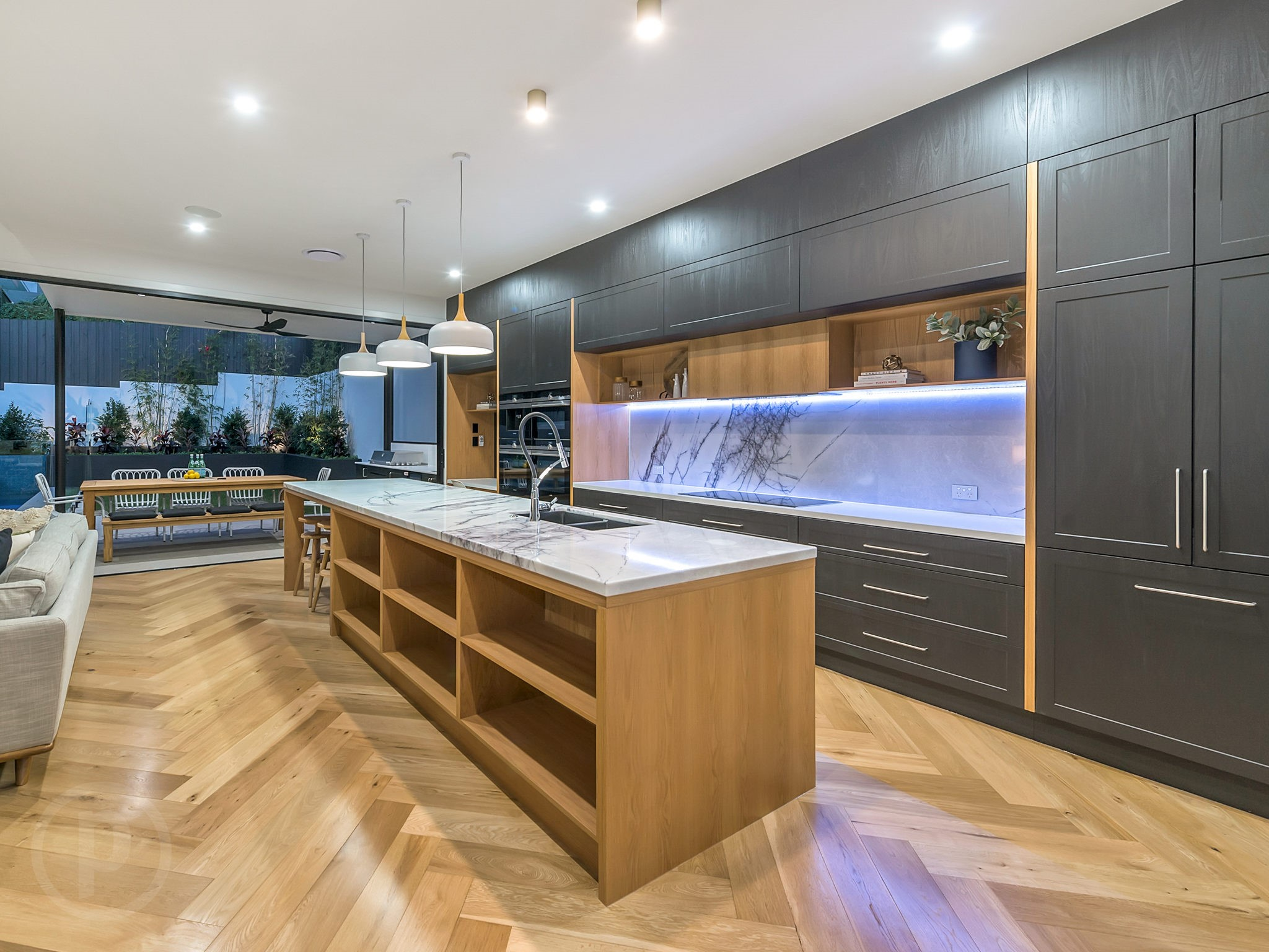 Custom-kitchen-stone-benchtops-timber-Brisbane-Gold-Coast