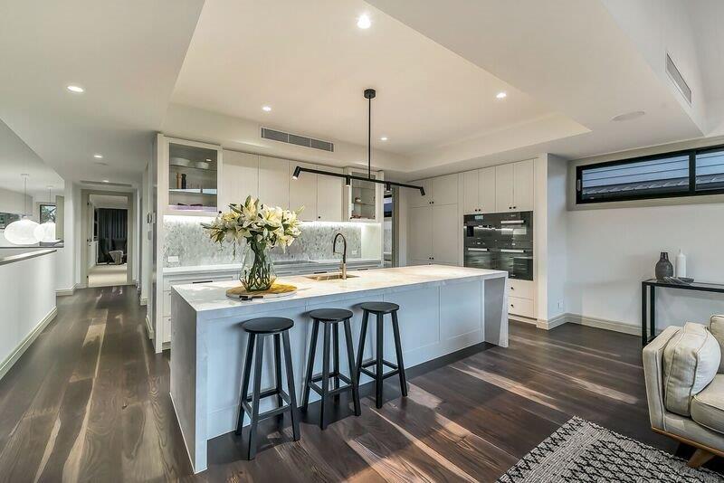 Custom-kitchen-track-lighting-island-bench-Brisbane-Gold-Coast