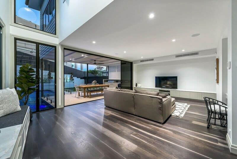 Custom joinery living room Brisbane Gold Coast