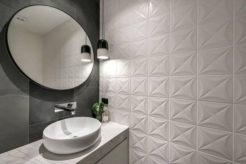 Custom vanity fancy tiles Brisbane Gold Coast
