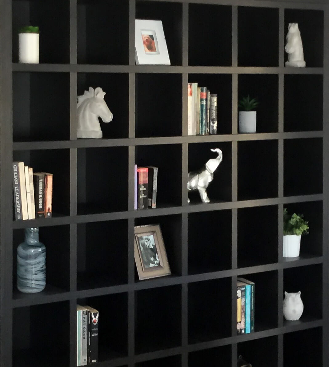 Custom wall unit display cabinet