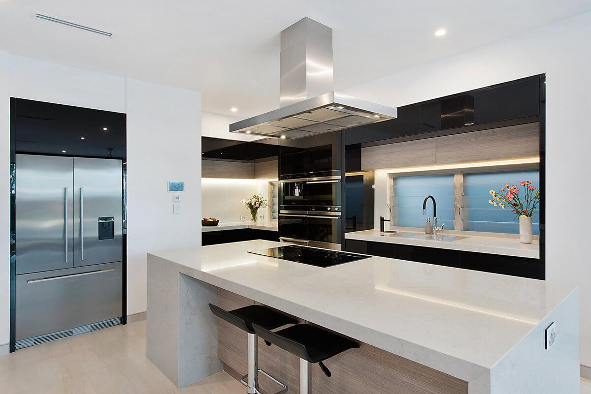 Kitchen renovation 80mm stone Brisbane Gold Coast