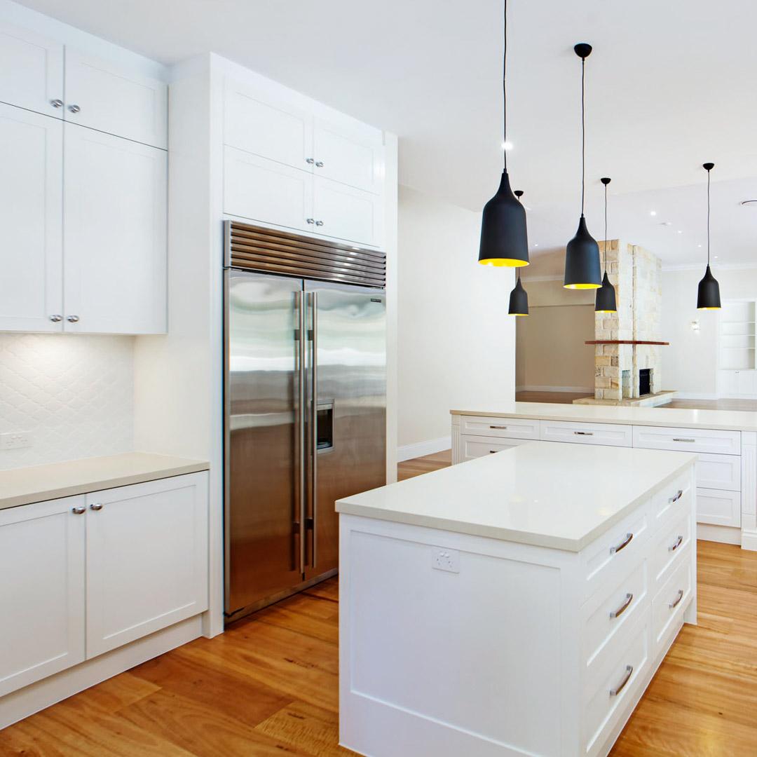 Custom kitchen tiled splashback Brisbane Gold Coast