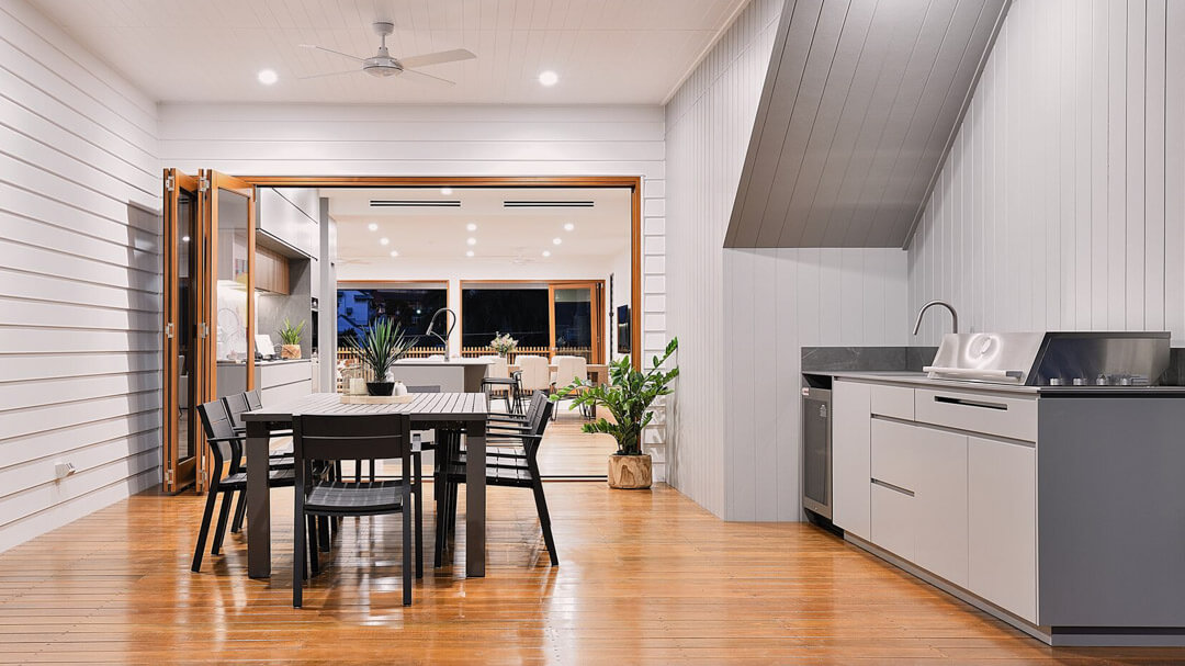 Outdoor kitchen VJ boards, Brisbane Gold Coast